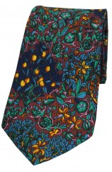 Multi Coloured Flowers Tree and Leaves Silk Tie