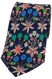 Multi Coloured Flowers Luxury Silk Tie
