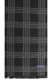 Erwin & Morris Black & Grey Check Scarf Supplied In A Gift Box