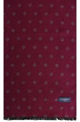 Erwin & Morris Wine Small Diamonds Scarf Supplied In A gift Box