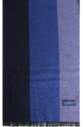 Erwin & Morris Navy & Blue Striped Scarf Supplied In A gift Box
