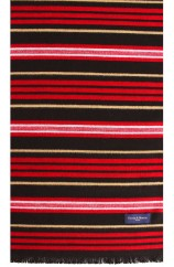 Erwin & Morris Multi Coloured Striped Scarf Supplied In A Gift Box