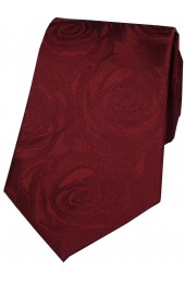 Soprano Wine Rose Wedding Silk Tie