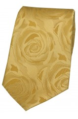 Soprano Gold Rose Wedding Silk Tie