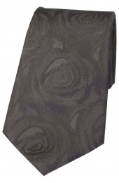 Soprano Wedding Grey Rose Wedding Silk Tie