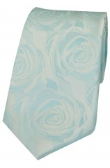 Soprano Sky Blue Rose Wedding Silk Tie
