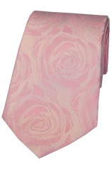 Soprano Pale Pink Rose Wedding Silk Tie