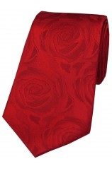 Soprano Red Rose Wedding Silk Tie