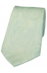 Soprano Sea Green Rose Wedding Silk Tie