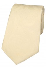 Soprano Cream Rose Wedding Silk Tie