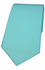 Soprano Cyan Horizontal Ribbed Polyester Tie