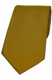 Soprano Dark Gold Horizontal Ribbed Polyester Tie
