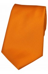 Soprano Orange Diagonal Rib Green Polyester Tie