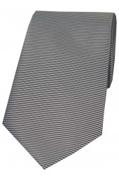 Soprano Grey Horizontal Ribbed Polyester Tie