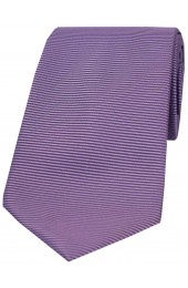 Soprano Lilac Horizontal Ribbed Polyester Tie