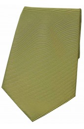 Soprano Moss Green Horizontal Ribbed Polyester Tie