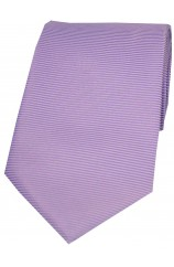 Soprano Pale Lilac Horizontal Ribbed Polyester Tie
