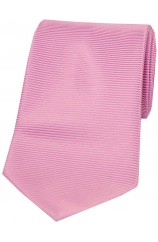 Soprano Pink Horizontal Ribbed Polyester Tie