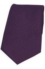 Soprano Purple Horizontal Ribbed Polyester Tie