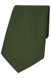 Soprano Racing Green Horizontal Ribbed Polyester Tie