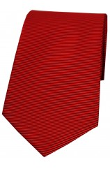 Soprano Red Horizontal Ribbed Polyester Tie