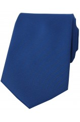 Soprano Royal Blue Horizontal Ribbed Polyester Tie