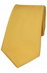 Soprano Sunshine Yellow Horizontal Ribbed Polyester Tie