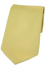 Soprano Yellow Horizontal Ribbed Polyester Tie