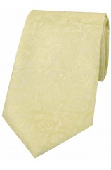 Soprano Ivory Rose Polyester Wedding Tie