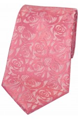 Soprano Pale Pink Rose Polyester Wedding Tie