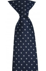 Soprano Navy Clip-on Tie With Small Flowers Polyester Tie
