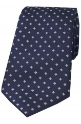 Soprano Navy With Small Flowers Polyester Tie