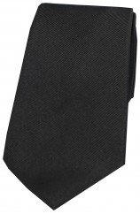 Soprano Black Diagonal Ribbed Plain Silk Tie