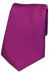 Soprano Cerise Diagonal Ribbed Plain Silk Tie