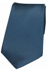 Soprano Denim Blue Diagonal Ribbed Plain Silk Tie