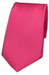Soprano Fuchsia Diagonal Ribbed Plain Silk Tie