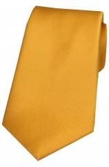 Soprano Gold Diagonal Ribbed Plain Silk Tie