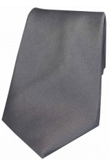 Soprano Grey Diagonal Ribbed Plain Silk Tie