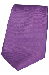 Soprano Lilac Diagonal Ribbed Plain Silk Tie