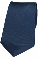 Soprano Navy Diagonal Ribbed Plain Silk Tie