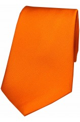 Soprano Orange Diagonal Ribbed Plain Silk Tie