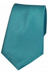 Soprano Petrol Blue Diagonal Ribbed Silk Tie