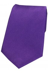 Soprano Purple Diagonal Ribbed Plain Silk Tie