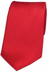 Soprano Red Diagonal Ribbed Plain Silk Tie
