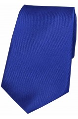 Soprano Royal Blue Diagonal Ribbed Plain Silk Tie