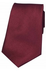 Soprano Wine Diagonal Ribbed Plain Silk Tie
