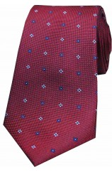Soprano Small Flowers Wine Silk Tie