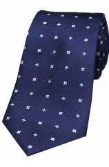 Soprano Small Flowers Navy Silk Tie