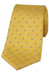 Soprano Gold Small Squares Silk Tie