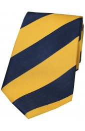 Soprano Navy and Gold College Striped Silk Tie